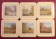 Set of Six Cloverleaf Coasters - Don Vaughan English Landscape Scenes - Gorgeous