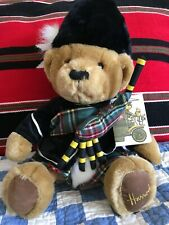 "Harrods Knightsbridge Teddy Bear Scottish Bag Pipe 12"""