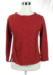 EUC Women's Whyci Milano Italian Red Crop 100% Boiled Wool Top Sweater US Medium