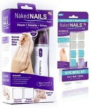 Naked Nails By Finishing Touch Smooth & Shine Manicure System w/ REFILLS New