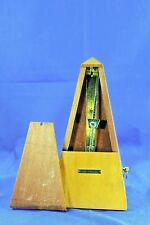 Vintage Seth Thomas Metronome In Light Wood Case Works