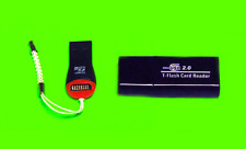 2x High Speed USB 2.0 SDHC Mini Micro SD T-Flash TF M2 Pro Memory Card Reader