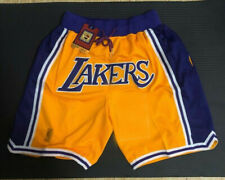 Lakers Basketball Shorts Vintage NBA Mens S-2XL