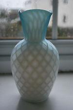 Victorian Thomas Webb Blue Satin Air Trap Glass Vase        #1000