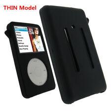 THIN Silicone Rubber Skin Soft Case Cover Black fr iPod Classic 80GB/120GB/160GB