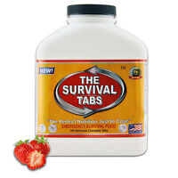Survival emergency food gluten free non GMO 15 days exp 25 years strawberry