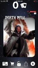 Topps Star Wars Digital Card Trader White Art Of Darth Maul Insert Award