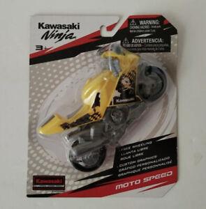 Official Licensed Kawasaki Ninja Moto Speed Motorcycle Collectible Toy -yellow