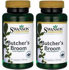 2X Butcher's Broom 470mg x 100 ( 200 ) Capsules 24HR DISPATCH