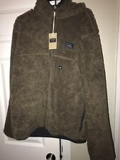 Abercrombie & Fitch Reversible Sherpa Full Zip Jacket XXL Brown NWT $140