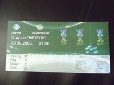 Tickets- 2005 UEFA Cup- Dnipro Dnipropetrovsk v Hibernian, 29 September