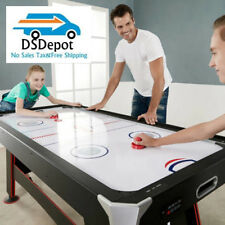 """CLASSIC GAMES 2 IN 1 Air Hockey Table with Table Tennis Top In-Rail Scorer 72"""""""