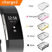 AM_ Ultra-thin Soft TPU Screen Protector Case Cover for Fitbit Charge 2 DEN