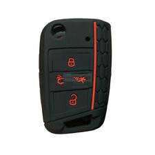 Fit VW Tiguan GTI Arteon 4 Button Smart Remote Key Fob Silicone Case Cover Black