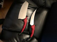 Rocking Knife Set 2 piece set custom grip handle Dishwasher safe Sku 00504H
