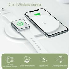 Baseus 2 in 1 Qi Wireless Charger iPhone Apple i Watch Fast Wireless Charge Pad