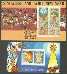 AOP Sri Lanka 1981-90 MS miniature sheets MNH (7)