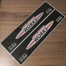 Pair Of Mini John Cooper Works Show Number Plates. JCW GP