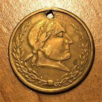 Antique Token of Esteem C.N.P. Medal - Holed - Excellent Condition