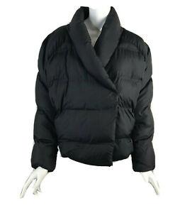 J Crew nevereven Womens Size Medium Kimono Puffer Coat Black