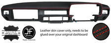 RED STITCHING DASH DASHBOARD REAL LEATHER COVER FITS JAGUAR XJS EARLY MODELS