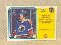 1982-83 O-Pee-Chee OPC #235 Wayne Gretzky Goal Leader Edmonton Oilers