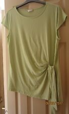KALIKO cap sleeve loose fitting top with slimming side tie - size 12