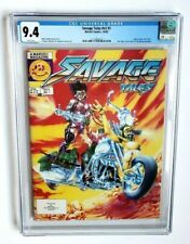 SAVAGE TALES #1 CGC 9.4 WHITE PAGES 1985 *1ST MICHAEL GOLDEN THE 'NAM*