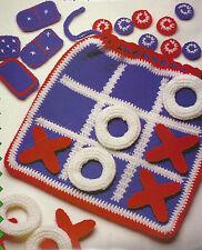 Crochet Pattern ~ FUN & GAMES BAG Tic-Tac-Toe, Checkers & Domino ~ Instructions