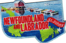 """ST JOHNS NEWFOUNDLAND AND LABRADOR"" Iron On Printed Patch Capital Canadian"