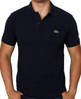 Lacoste Men's Short Sleeve Classic Cotton Pique Polo Shirt L1212-51 166 Navy