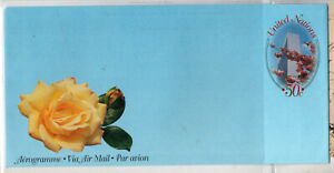 TIMBRES U N - ENTIER POSTAL UNITED NATIONS-NATIONS UNIES- AEROGRAMME non voyagé