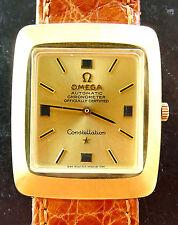 Ω OMEGA CONSTELLATION GELB GOLD 18K 750 CHRONOMETER VINTAGE AUTOMATIK ARMBANDUHR