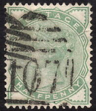 QV 1880 1/2 D 1/2d SG165 Verde Pallido BUON USATO