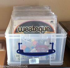Contenitore Plastica Antiurto con coperchio - Per 100 dischi 45 Giri - 182090XL