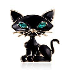 Lovely Black Cartoon Cat Animal Brooch Pin Children Breastpin Costume Jewelry