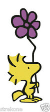 WOODSTOCK Snoopy's Pal Tiny Yellow Bird Holds Flower - WindoCling StickOn Decal