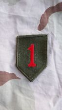 US ARMY - BIG RED ONE PATCH - 1ST INFANTRY DIVISION - NEW - SEW ON
