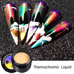 UR SUGAR Thermochromic Liquid Neon Color Change Pigment Nail Gel Polish Soak Off