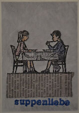 Jan M. Petersen - suppenliebe - Kunst Plakat Poster, lustig/Humor