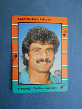 SCANLENS STIMOROL 1988/89 CRICKET CARD - Zakir Khan # 115 (Pak)