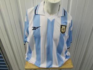 VINTAGE REEBOK ARGENTINA NATIONAL TEAM 2XL HOME STRIPED SEWN JERSEY 1999/00 KIT