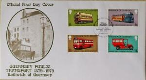 """Guernsey Stamps: """"Guernsey Public Transport"""" - First Day Cover 1979"""