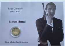 New Sean Connery as James Bond royal mint A-Z 10p coin display.