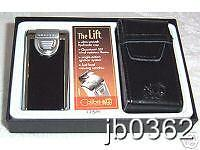 New Black & Silver Colibri Quantum Lift SST Cigar Lighter Gift Set