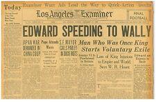 Edward Speeds to Wallis Simpson George VI Proclaimed King December 13 1936 B31
