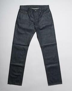 Ermenegildo Zegna NWT $475 Navy Blue Cotton Luxury Denim 5 Pocket Jeans 33