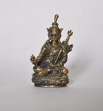 Tibetan Guru Rimpoche Brass 4.8 cm statue