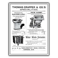 METAL SIGN WALL PLAQUE THOMAS CRAPPER & CO Toilet Design poster print picture A5