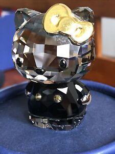 Swarovski crystal figurine Sanrio Hello Kitty Gold Bow 1042931 Mint with box.